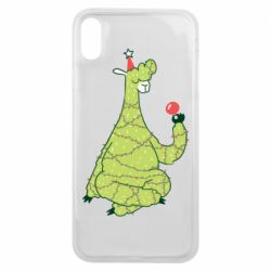 Чехол для iPhone Xs Max Green llama with a garland