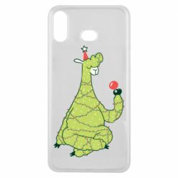 Чехол для Samsung A6s Green llama with a garland