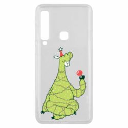 Чехол для Samsung A9 2018 Green llama with a garland