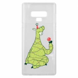 Чехол для Samsung Note 9 Green llama with a garland