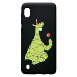 Чехол для Samsung A10 Green llama with a garland