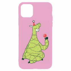 Чехол для iPhone 11 Green llama with a garland