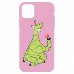 Чехол для iPhone 11 Pro Green llama with a garland