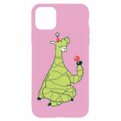 Чехол для iPhone 11 Pro Max Green llama with a garland