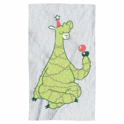 Полотенце Green llama with a garland