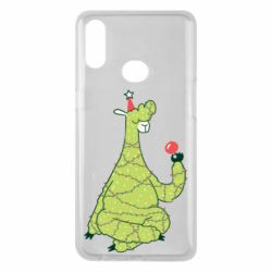 Чехол для Samsung A10s Green llama with a garland