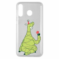 Чехол для Samsung M30 Green llama with a garland