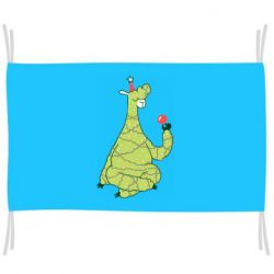Флаг Green llama with a garland