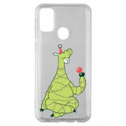 Чехол для Samsung M30s Green llama with a garland