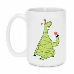 Кружка 420ml Green llama with a garland