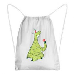 Рюкзак-мешок Green llama with a garland