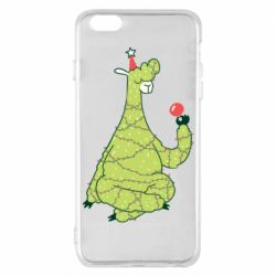 Чехол для iPhone 6 Plus/6S Plus Green llama with a garland