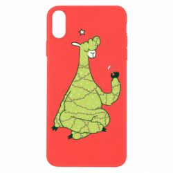 Чехол для iPhone X/Xs Green llama with a garland