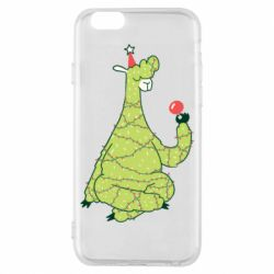 Чехол для iPhone 6/6S Green llama with a garland