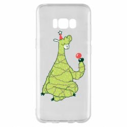 Чехол для Samsung S8+ Green llama with a garland