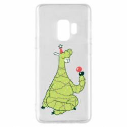 Чехол для Samsung S9 Green llama with a garland