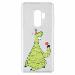 Чехол для Samsung S9+ Green llama with a garland