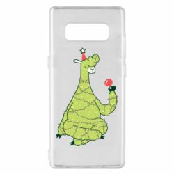 Чехол для Samsung Note 8 Green llama with a garland