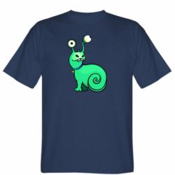 Мужская футболка Green monster snail