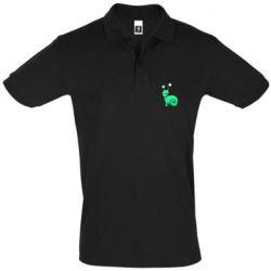 Мужская футболка поло Green monster snail