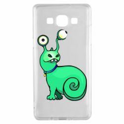 Чехол для Samsung A5 2015 Green monster snail