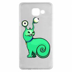 Чехол для Samsung A5 2016 Green monster snail