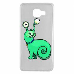 Чехол для Samsung A7 2016 Green monster snail