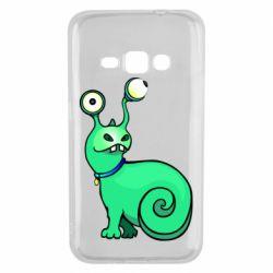 Чехол для Samsung J1 2016 Green monster snail