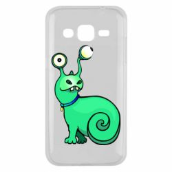 Чехол для Samsung J2 2015 Green monster snail
