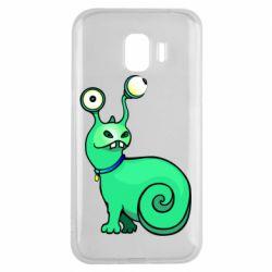 Чехол для Samsung J2 2018 Green monster snail