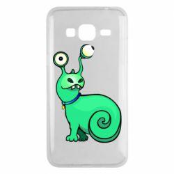 Чехол для Samsung J3 2016 Green monster snail