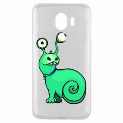Чехол для Samsung J4 Green monster snail