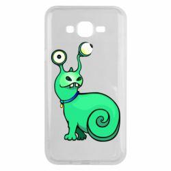 Чехол для Samsung J7 2015 Green monster snail