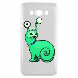 Чехол для Samsung J7 2016 Green monster snail