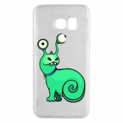Чехол для Samsung S6 EDGE Green monster snail
