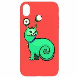 Чехол для iPhone XR Green monster snail