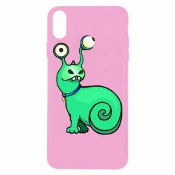 Чехол для iPhone Xs Max Green monster snail