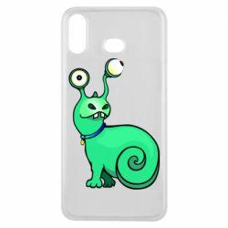 Чехол для Samsung A6s Green monster snail