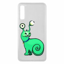 Чехол для Samsung A7 2018 Green monster snail