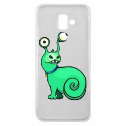 Чехол для Samsung J6 Plus 2018 Green monster snail