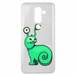 Чехол для Samsung J8 2018 Green monster snail