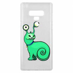 Чехол для Samsung Note 9 Green monster snail