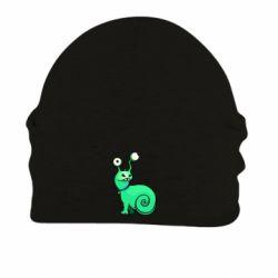 Шапка на флисе Green monster snail