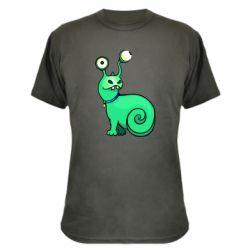 Камуфляжная футболка Green monster snail