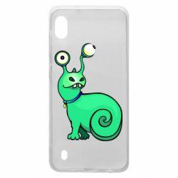 Чехол для Samsung A10 Green monster snail