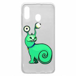 Чехол для Samsung A20 Green monster snail