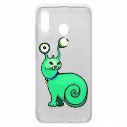 Чехол для Samsung A30 Green monster snail