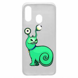 Чехол для Samsung A40 Green monster snail