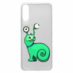 Чехол для Samsung A70 Green monster snail