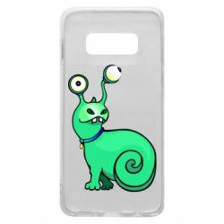 Чехол для Samsung S10e Green monster snail
